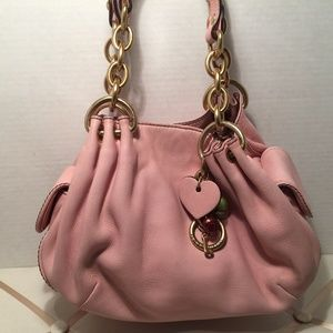Juicy Couture Bags - Juicy Couture Pink Leather Handbag